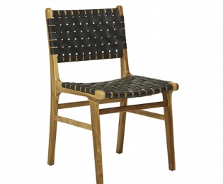 Seed Woven Leather Dining Chair 1