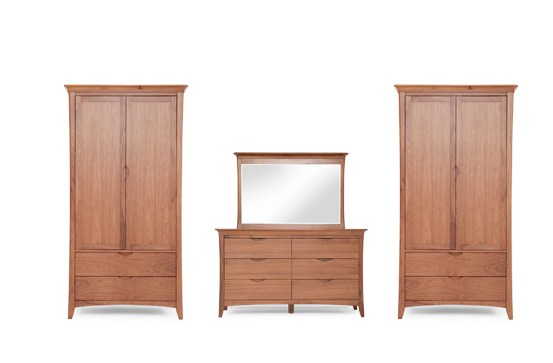 MDL Walnut Bedroom Set